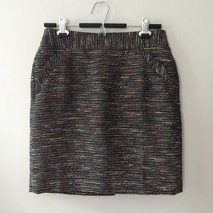 Ann Taylor Loft Outlet Skirt 6P Black Ruffle